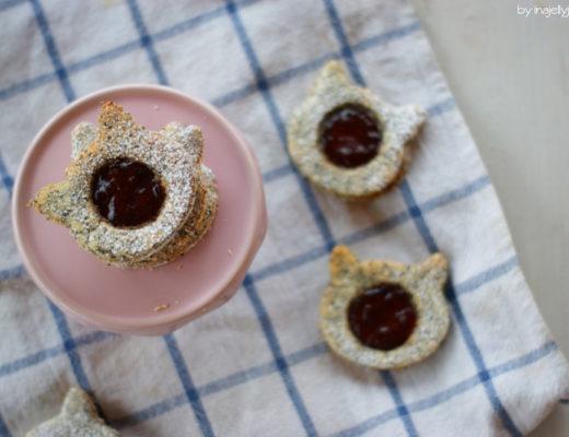 Linzer Augen mit Mohn und Kriecherl-Marmelade-Rezept