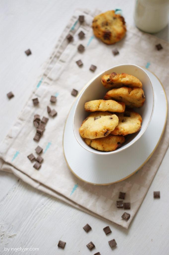 knusprig und saftig: Schokocookies