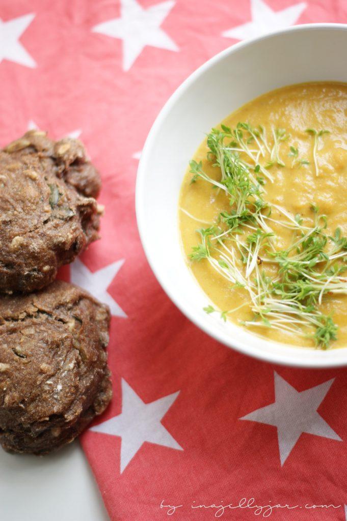 Rezept für Vegane Karottensuppe mit Garam Masala