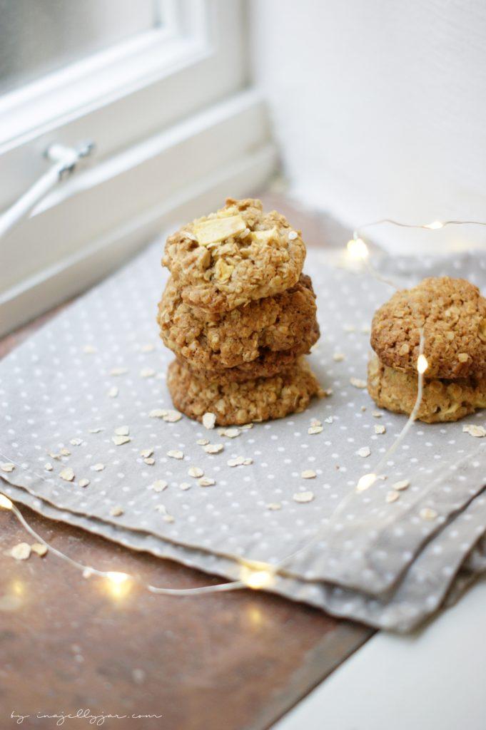Saftige Apfel-Cookies mit Haferflocken