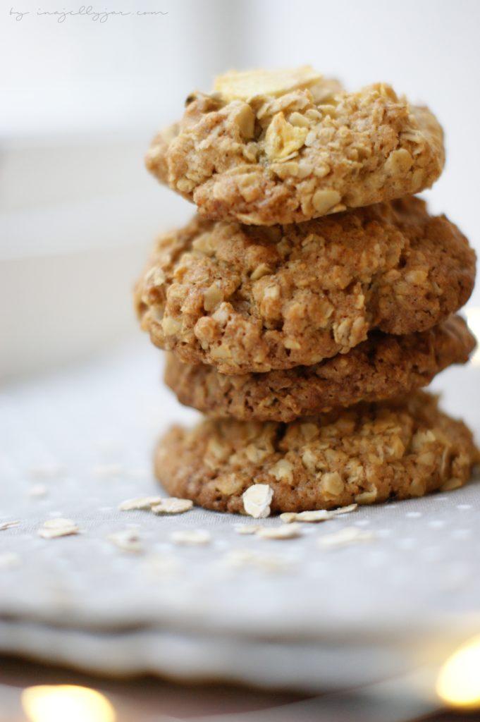 Knusprige Apfel-Cookies für den Advent