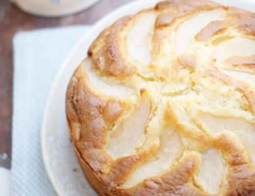 Birnenkuchen mit Mascarpone für eine kleine Springform