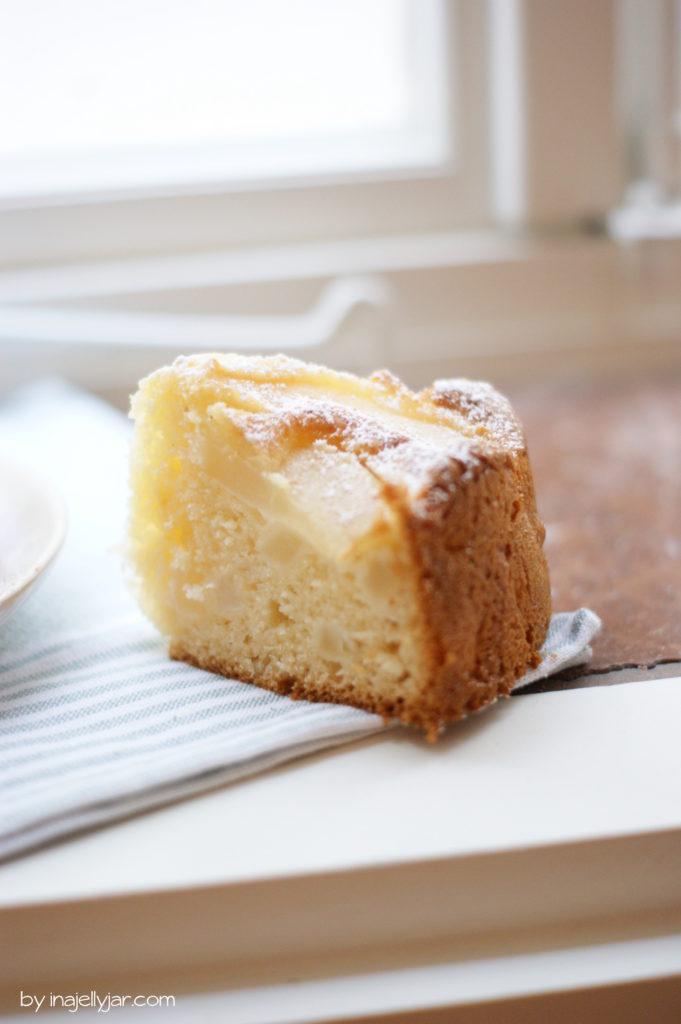 Rezept für Birnenkuchen mit Mascarpone
