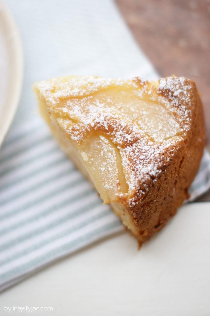 Einfacher Birnenkuchen mit Mascarpone