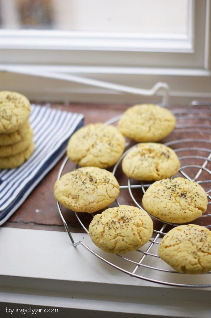 Schnelle Zitronencookies mit Mohn