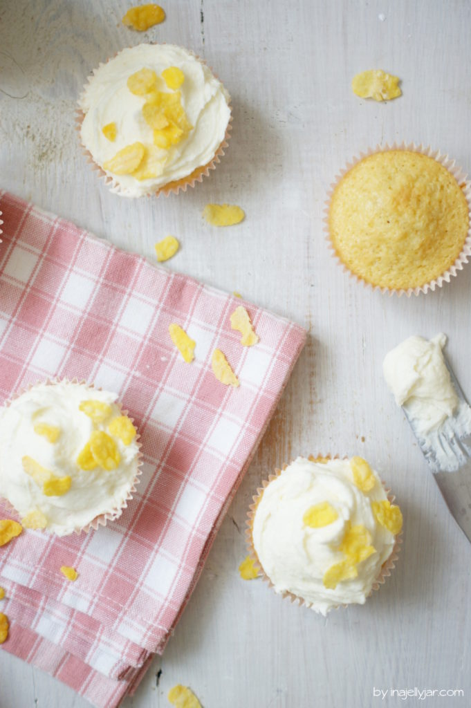 Saftige Cornflakesmilch-Cupcakes