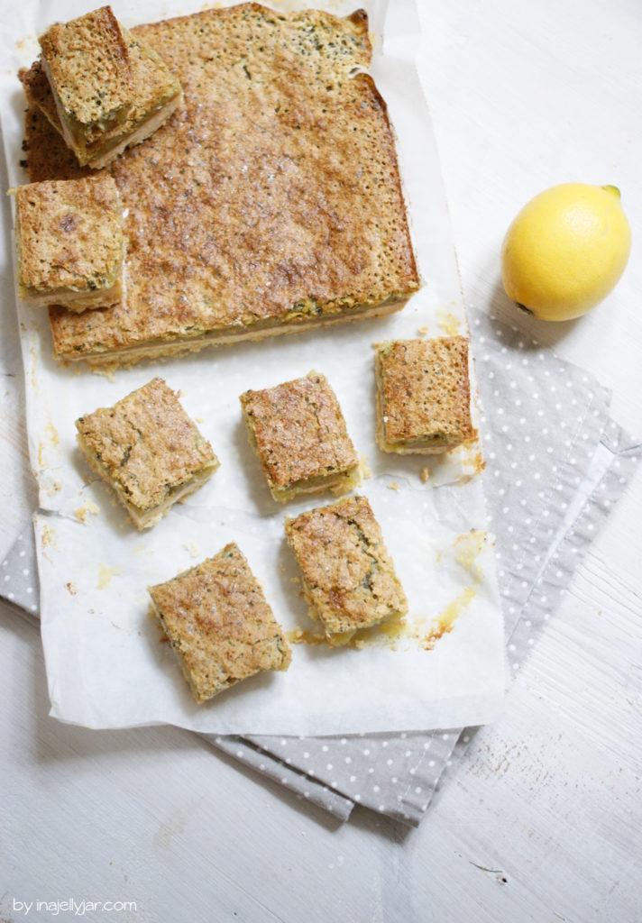 Cremige Matcha-Zitronen-Squares