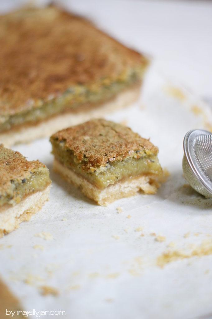 Süß-saure Matcha-Zitronen-Squares