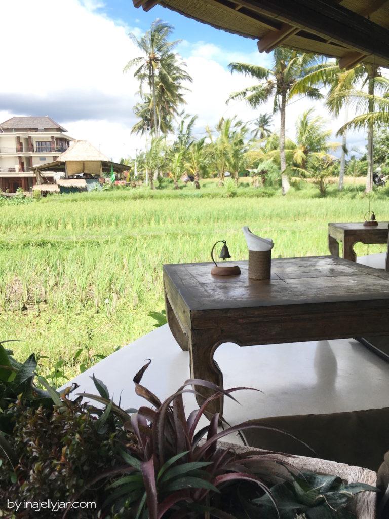 Ausblick vom Café Pomgranate in Ubud, Bali