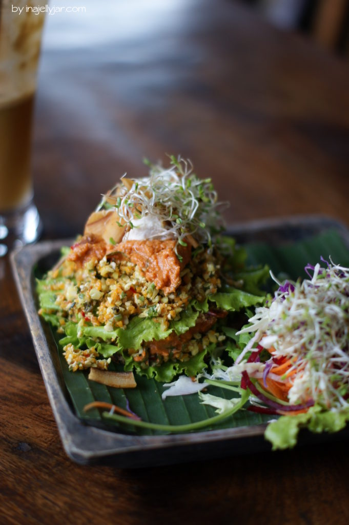 Rohvegane Tacos im Garden Kafe, Ubud Bali