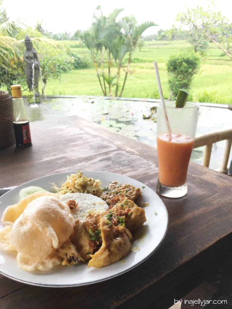 Nasi Campur im Karsa Kafe, Ubud in Bali