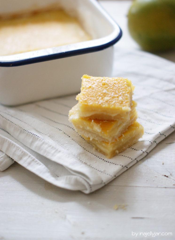 Puddingschnitten aus Obstsaft