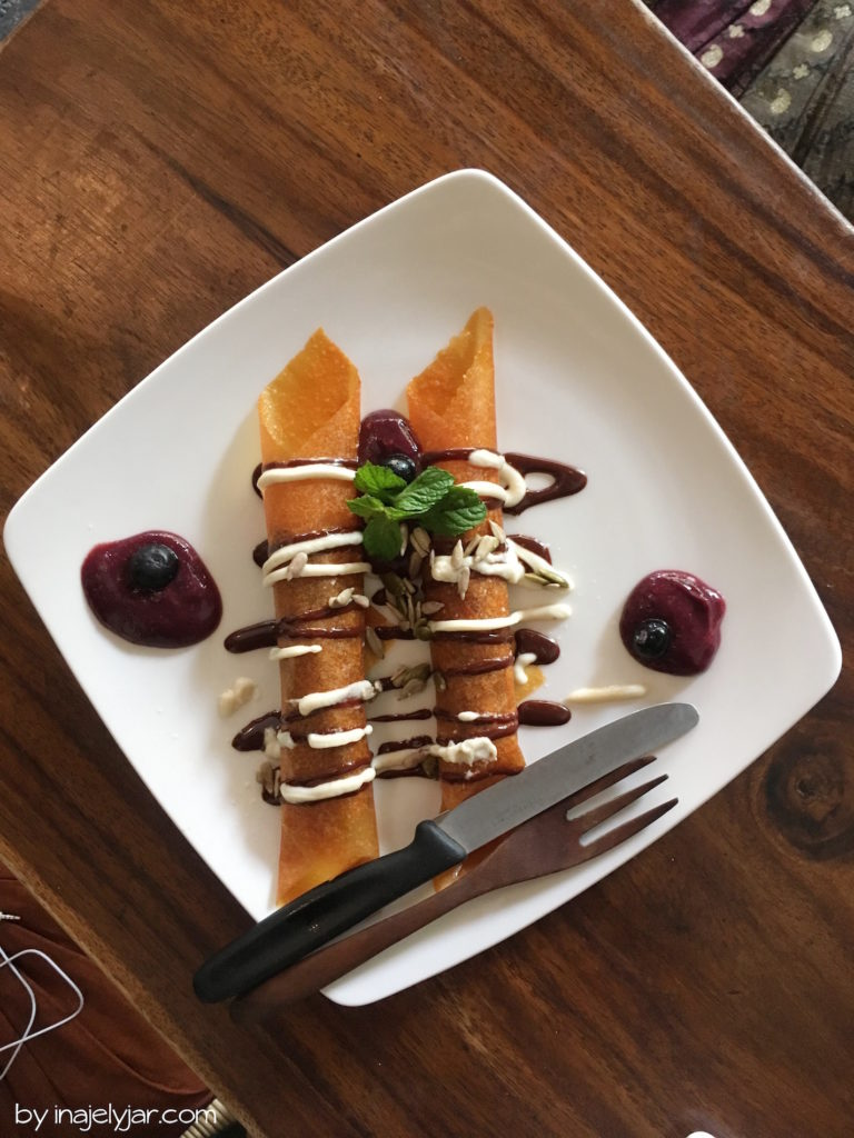 Rohvegane Pancakes im Seeds of Life Cafe in Ubud, Bali