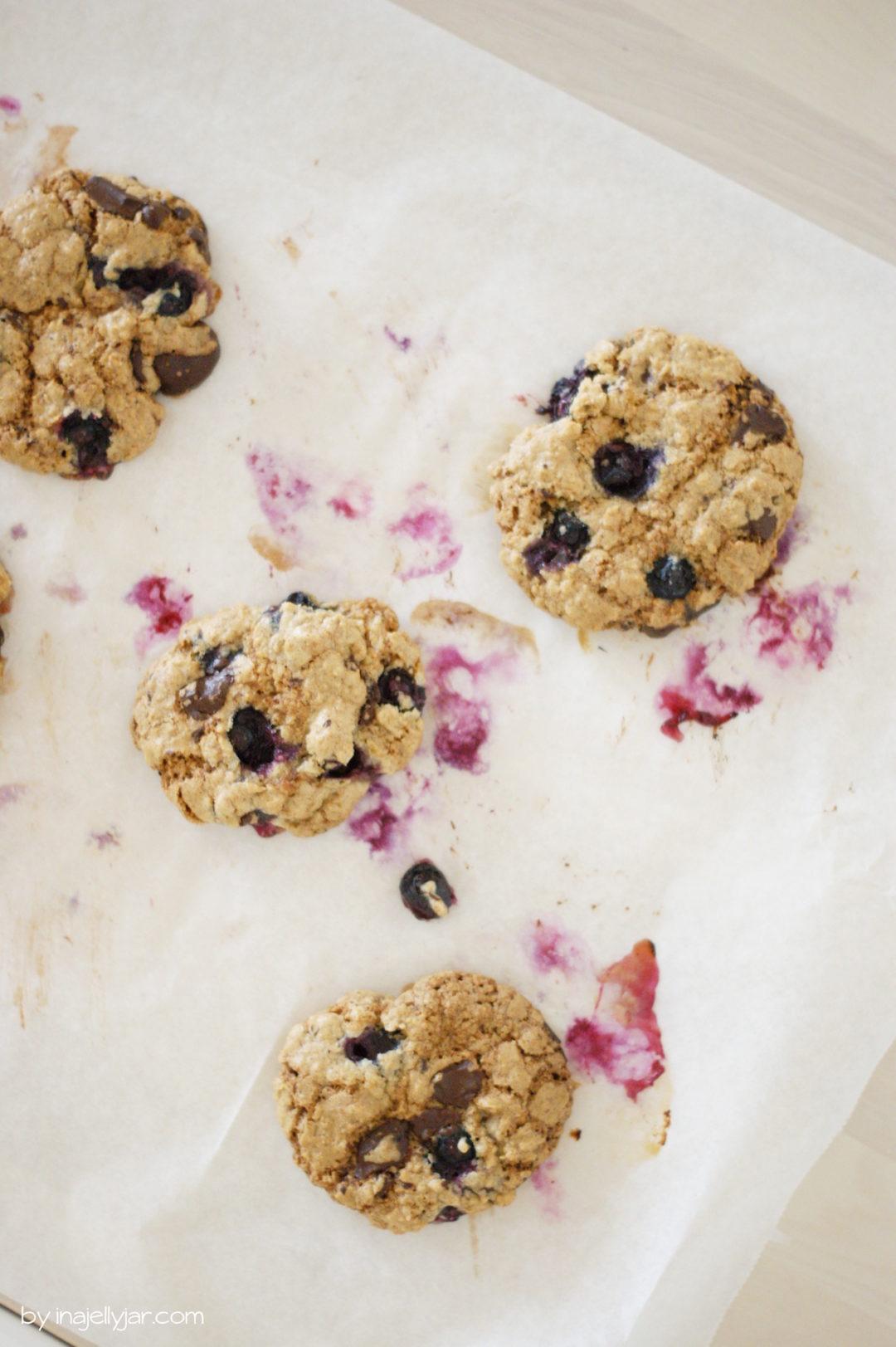 Einfach nachgebacken: Blaubeercookies mit Schokolade