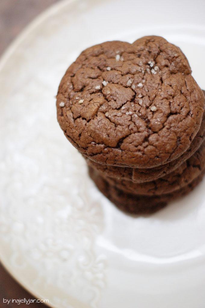 Brownie Cookies mit Fleur de Sel