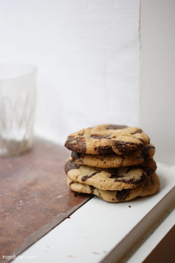 Rezept für Chocolate Chip Cookies mit Tahini