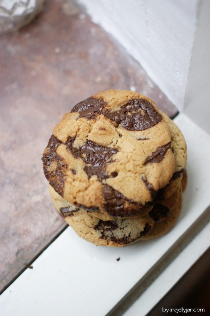 Rezept für herrliche Chocolate Chip Cookies mit Tahini