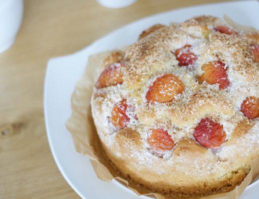 Rezept für Marillenkuchen mit Kokosguss