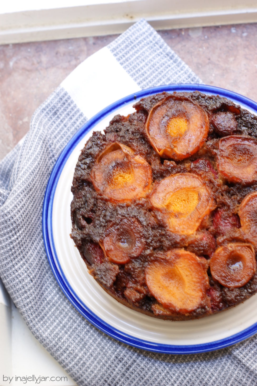 Marillenkuchen mit Himbeeren - Upside-Down-Variante