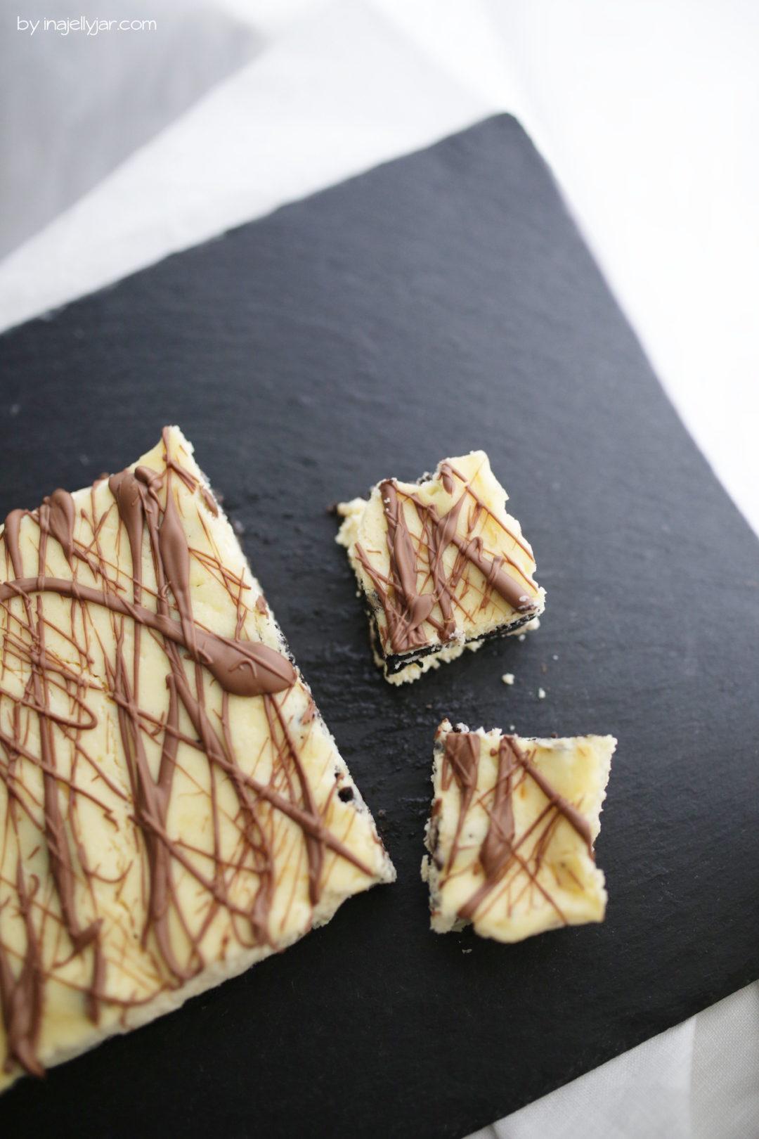 Oreo-Cheesecake mit Knuperboden