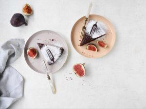 Becherkuchen mit Schokolade