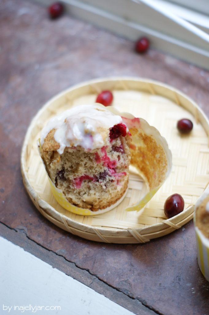 Rezept für Cranberry-Muffins mit Mandarine