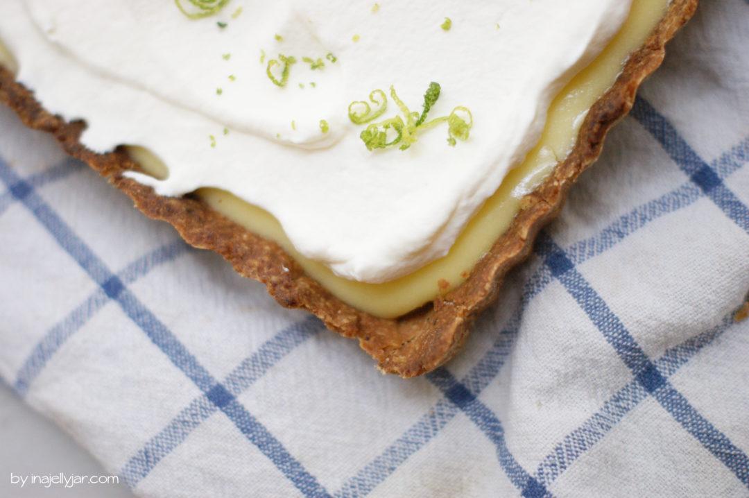 Rezept für Limettentarte mit braunem Butterboden