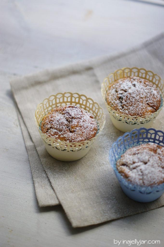 Stracciatella-Apfel-Muffins aus einfachen Zutaten