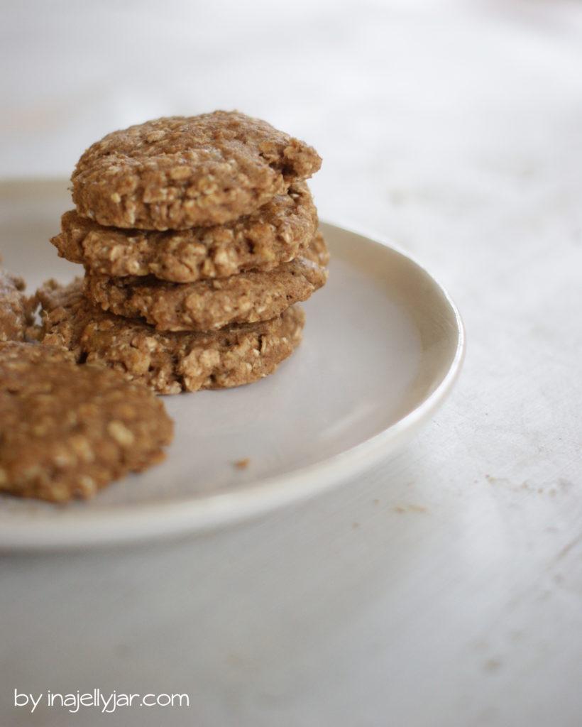 Leckere Erdnussbutter-Bananen-Cookies