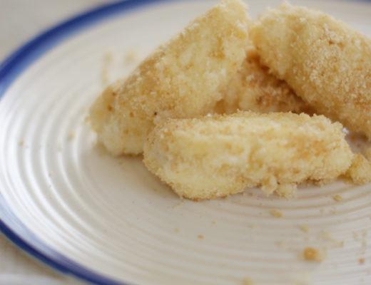 Topfennockerl in Butterbröseln